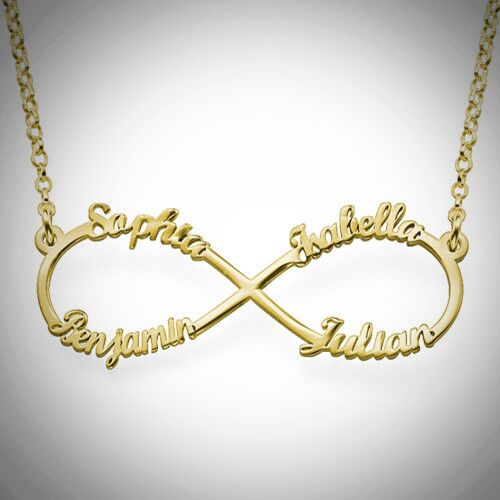 4 Name Infinity Necklace
