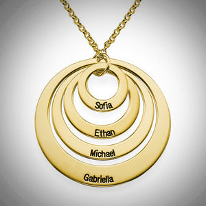 Four Loop Necklace- Choose a Metal