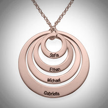 Load image into Gallery viewer, Four Loop Necklace- Choose a Metal