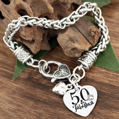 Fabulous Antiqued Silver Bracelet- 40, 50, or 70