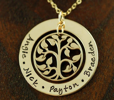 Gold-Filled Tree of Life Loop Necklace