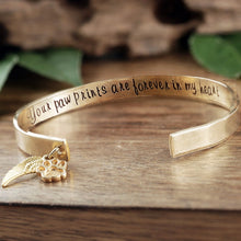 Load image into Gallery viewer, Custom Pet Memorial Cuff Bracelet - Choose A Metal