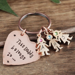 Daddy And Child Keychain - Choose A Color