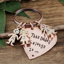 Load image into Gallery viewer, Daddy And Child Keychain - Choose A Color