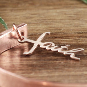 Faith Cuff Bracelet - Choose A Metal