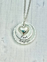 Load image into Gallery viewer, Silver Two Layer Heart Necklace