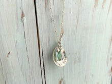 Load image into Gallery viewer, Sterling Teardrop Mother's Necklace