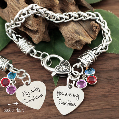 You Are My Sunshine Antiqued Silver Bracelet