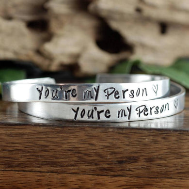 You're My Person Cuff Bracelets-Set Of 2