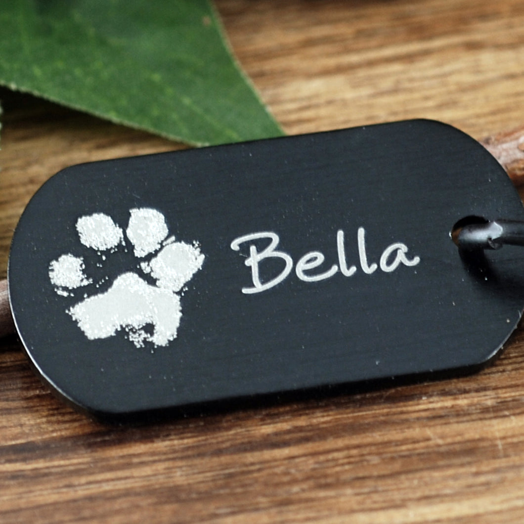 Pet Memorial Actual Pawprint Keychain