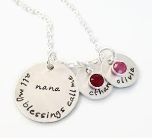 All My Blessings Personalized Necklace
