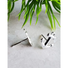 Load image into Gallery viewer, Sterling Silver Anchor Earrings