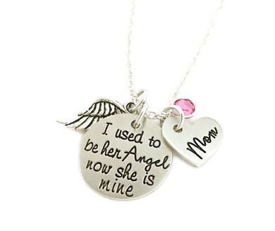 I Used To Be His/Her Angel Memorial Necklace