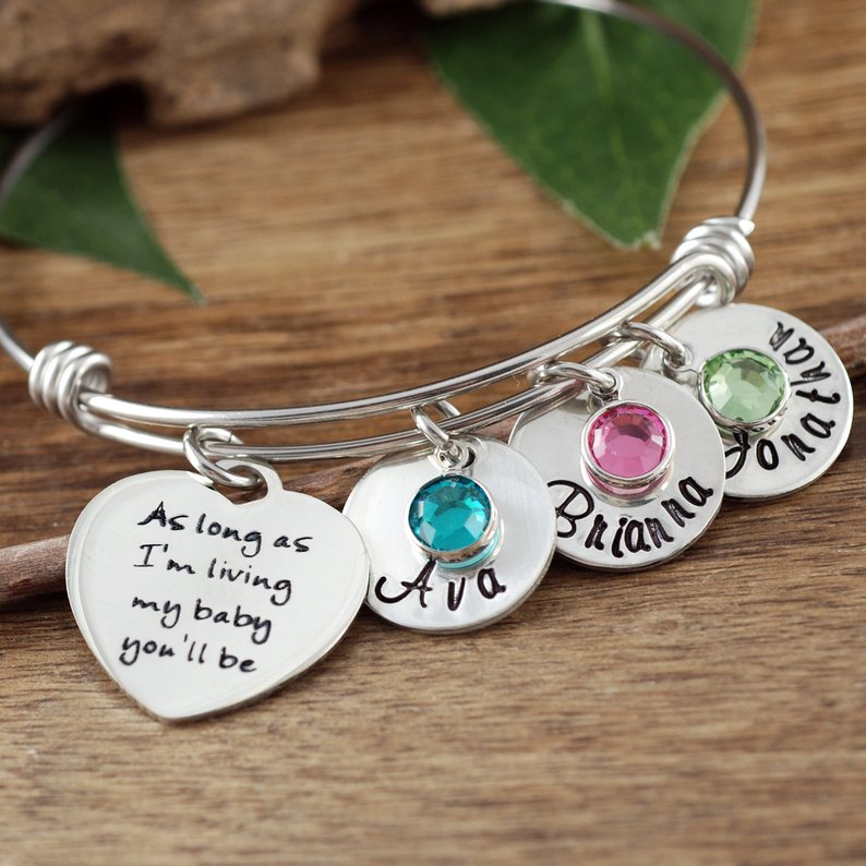 As Long As I'm Living Bangle Bracelet