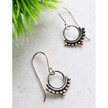 Load image into Gallery viewer, Sterling Silver Bali Dangle Earrings