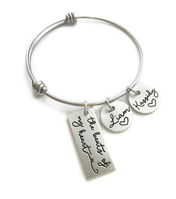 The Beats Of My Heart Bangle Bracelet