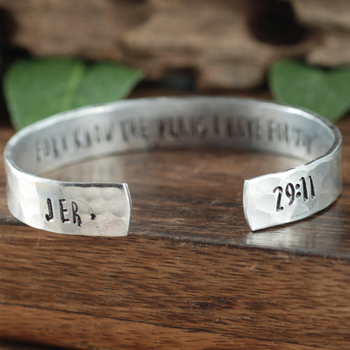 Bible Verse Secret Message Cuff Bracelet