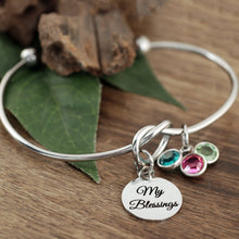 Load image into Gallery viewer, My Blessings Knot Birthstone Bracelet - Silver, Gold, Rose Gold