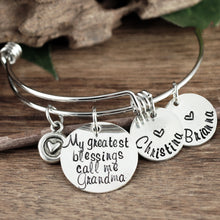 Load image into Gallery viewer, My Greatest Blessings Bangle Bracelet