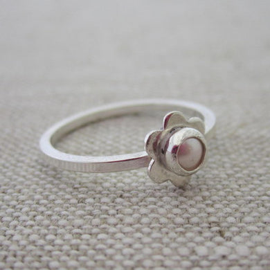 Sterling Silver Sweet Blossom Birthstone Ring