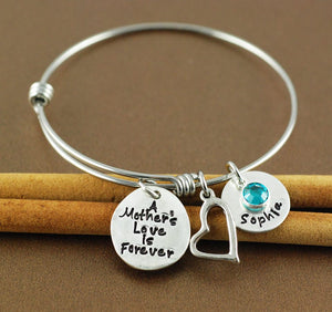 A Mother's Love Is Forever Bangle Bracelet