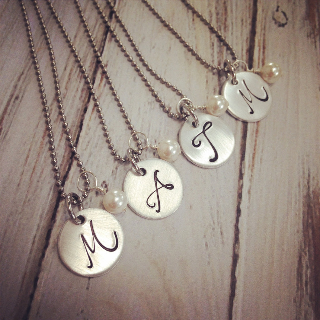 Bridesmaid Monogram Necklaces