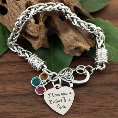 Bushel and a Peck Antiqued Silver Bracelet