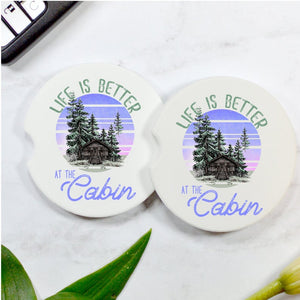 Life Is Better At The Cabin Car Coasters