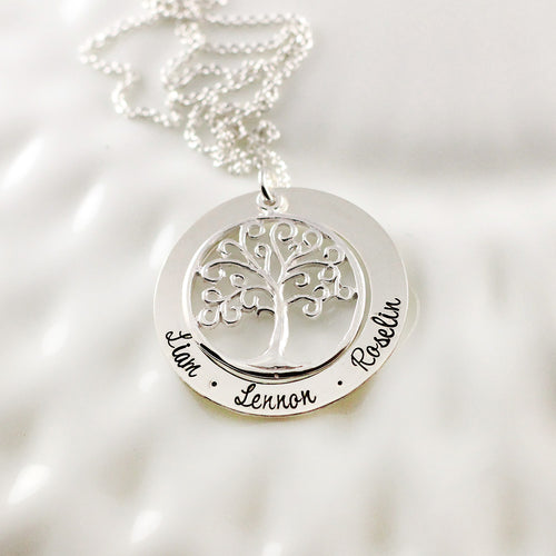 Charming Family Tree Loop Necklace