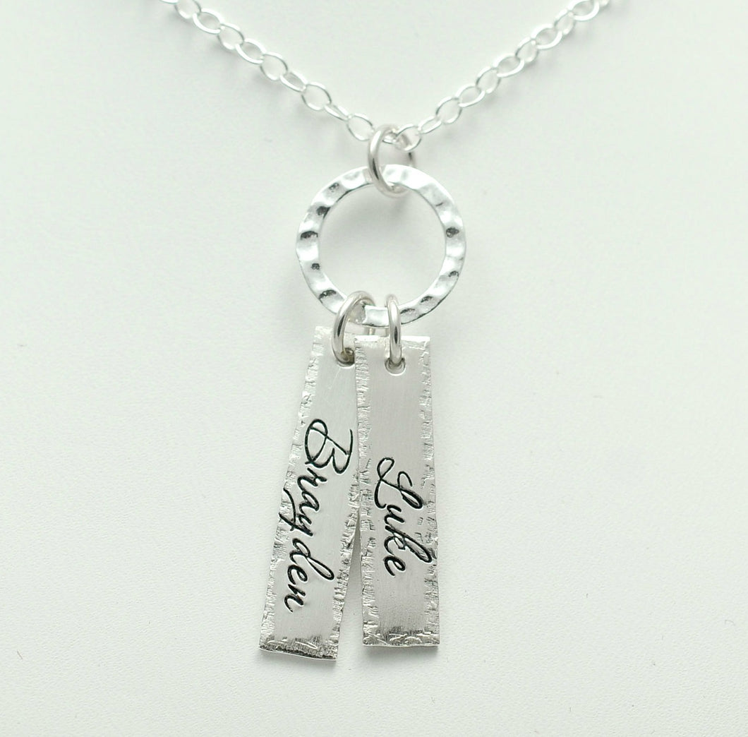 Eternity Sterling Silver Name Tag Necklace