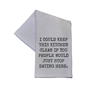 """Clean Kitchen"" Kitchen Towel/ Tea Towel"