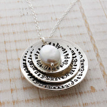 Load image into Gallery viewer, Triple Disc Domed Necklace with Coin Pearl