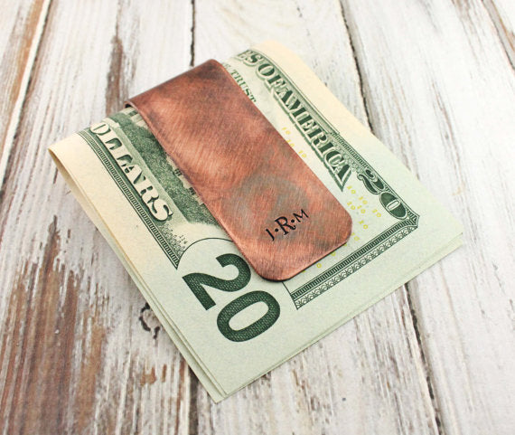 Rustic Copper Money Clip