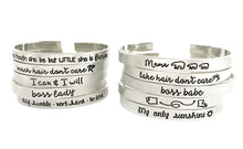 Load image into Gallery viewer, Cuff Bracelets- Choose a Saying