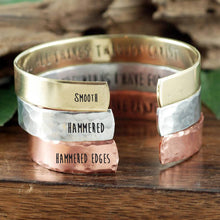 Load image into Gallery viewer, Name And Birthstone Cuff - Choose A Metal