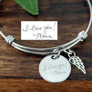 Custom Handwriting Bangle Bracelet