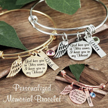 Load image into Gallery viewer, Custom Memorial Bangle - Choose A Color