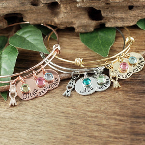 Custom Mom Bangle - Choose A Color