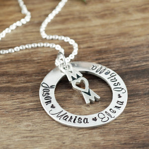 Custom Mom Necklace - Choose A Metal