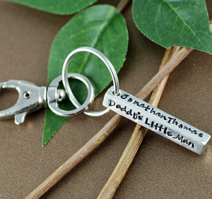 Dad 4-Sided Bar Keychain