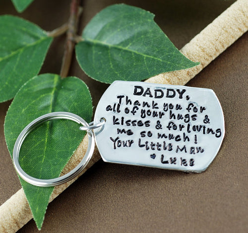 Dad Large Tag Keychain