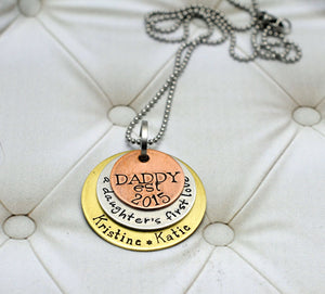 Mixed Metal Daddy Custom Necklace