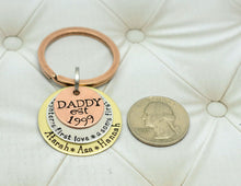 Load image into Gallery viewer, Mixed Metal Daddy and Daughter and Son Keychain