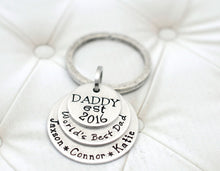 Load image into Gallery viewer, SILVER DADDY CUSTOM KEYCHAIN