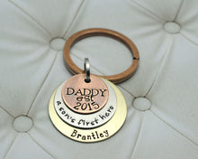 Load image into Gallery viewer, Mixed Metal Daddy and Son Keychain