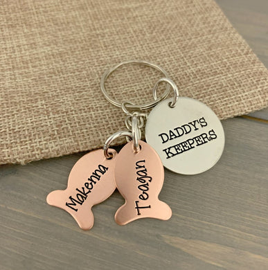 Daddy's Keepers Fishing Keychain