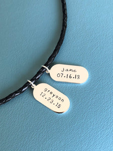 Dad Tags Necklace