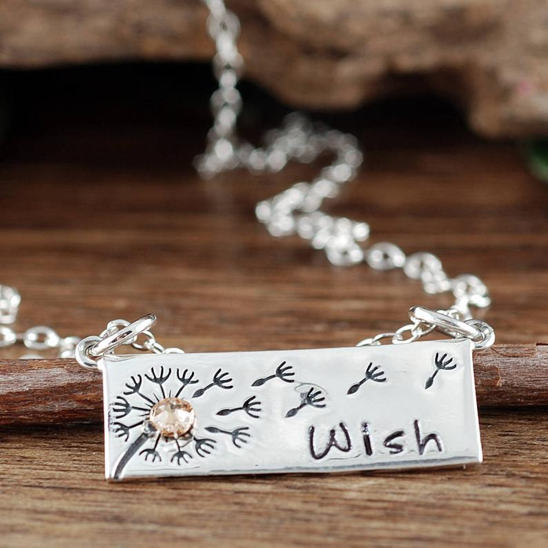 Sterling Silver Dandelion Wish Necklace