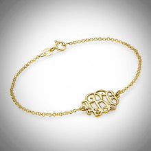 Load image into Gallery viewer, Sterling Silver or Gold Petite Monogram Bracelet