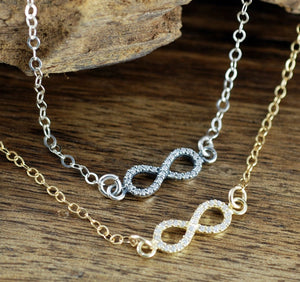 Elegant Infinity Necklace - Choose A Color